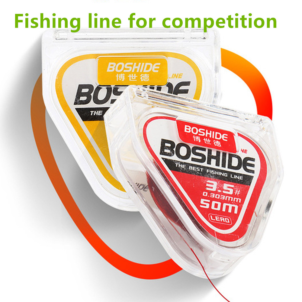 50m Fishing Line Fishing Competition Super Strong Fishing Wire More Invisible Line No Memory Nylon Line Fluorocarbon Coated Line