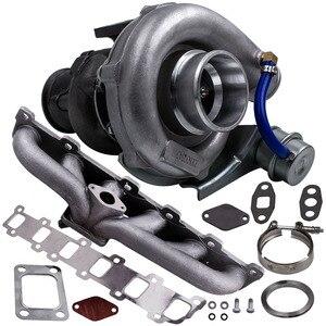 Image 3 - Turbo Manifold Kit for Nissan Patrol Safari GU GQ 4.2L TD TD42 TB42 T04E T3 T4 .63 A/R 44 Trim TurboCharger 400+HP Stage III