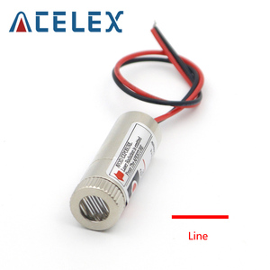 Image 1 - 5mW 650nm kırmızı çizgi lazer modülü odak ayarlanabilir lazer diyot kafa endüstriyel çap 12MM 5V Metal cam lens kafa