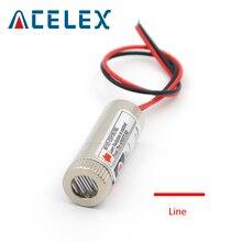5mW 650nm ligne rouge Module Laser Focus tête de Diode Laser réglable diamètre industriel 12MM 5V tête de lentille en verre métallique