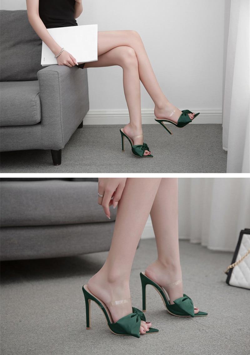 Chaussures en soie nœud papillon