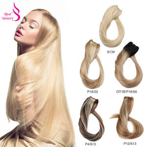 Bundles Hair-Extensions Human-Hair Balayage Double-Weft Remy Realbeauty Brazilian Straight