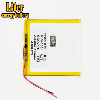 3.7V 4000mah (polymer lithium ion battery) Li-ion battery for tablet pc 7 inch MP3 MP4 [357095] Free Shipping witblue new universal battery pack 3 7v 3000mah polymer lithium battery for 7 oysters t72hmi 3g irbis tz46 tz45 tz70 tablet