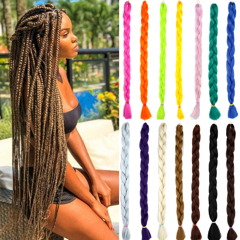‹Clearance SaleJumbo Braid Hair Hair-Expression Crotchet Fashion Pure-Color 82inch AOOSOO Headwear¾