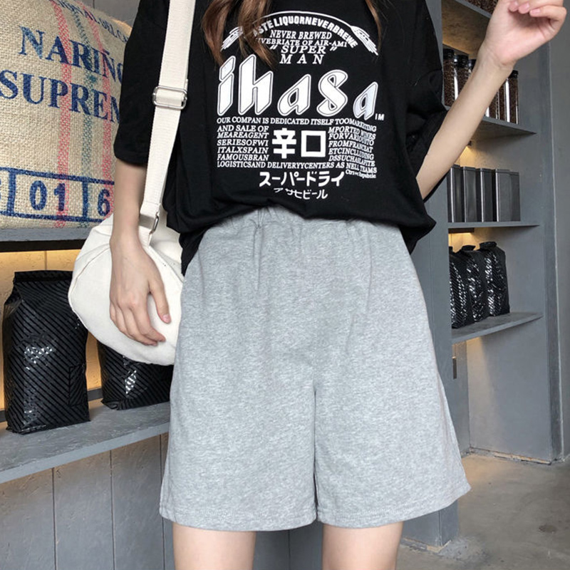 High Waist Shorts Women Summer Casual Short Pants New 2020 Korean Style Solid Color Comfortable Cotton Shorts Feminino P577