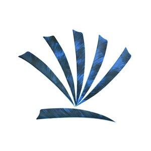 Image 4 - 50/100 قطعة 5 بوصة الرماية السهم الريش أجنحة الحق تركيا ريشة درع شكل عدد وأدوات يصلح للصيد اطلاق النار الملحقات