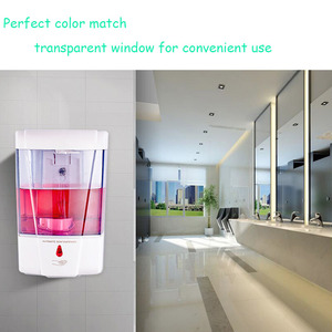 Image 5 - 700ml Touchless Bathroom Dispenser Smart Sensor Liquid Soap Dispenser For Kitchen Offices Hand Free Automatic Soap Dispenser