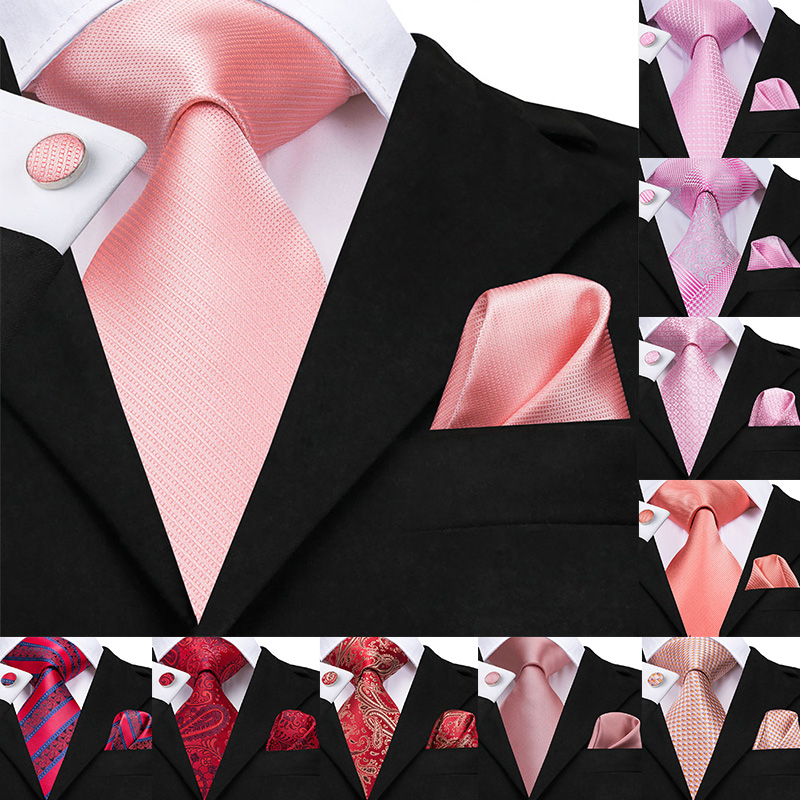 Mens Satin Square Pocket Handkerchief Hanky Coral