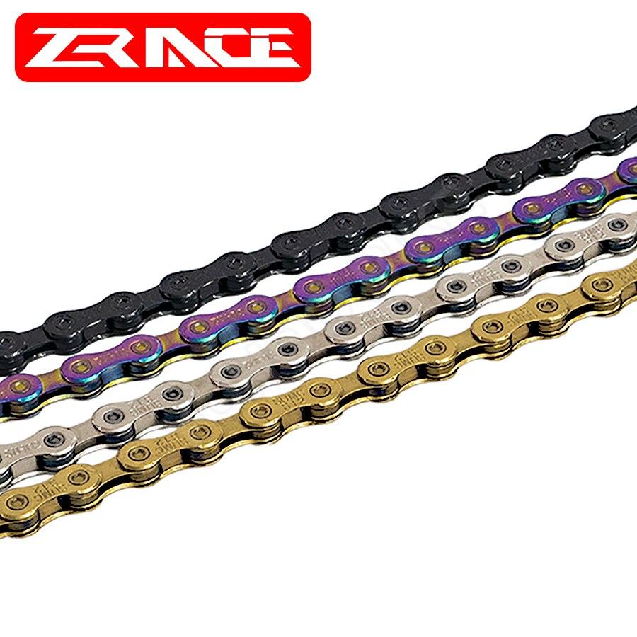 Bike Chain 8 9 10 11 12 Speed VTT MTB Mountain Road Bike Neon-Like Gray Silver Black Gold Bicycle Chain Components