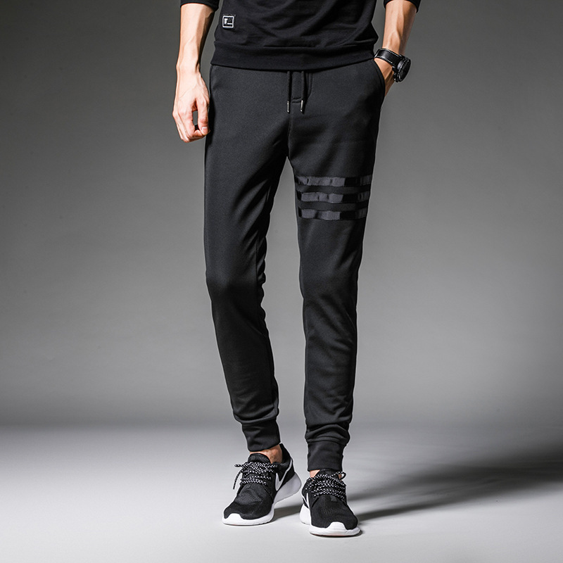 High Quality 2018 Large Size Pants Casual Men's Trousers Loose Men's Sweatpants Pencil Pants Three Bars Harem Pants Men Joggers
