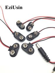 10 шт., адаптер для аккумулятора 6F22 9 В, оснастка с разъемом, основа для кабеля питания для Arduino держатель проводов DC 5,5*2,1