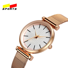 QW Sports Female reloj Luxury Quartz fashion white dial band Cheap White Mechanical Sport women girl