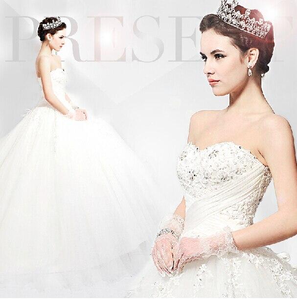 Casamento Romantic Ball Crystal Sexy Appliques Vestido De Novia 2018 Bridal Gown Free Shipping Mother Of The Bride Dresses