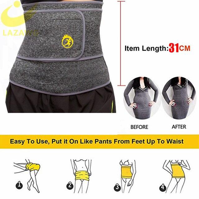 LAZAWG Women Waist Trainer Belt Slimming Sauna Waist Trimmer Belly Band Sweat Sports Girdle Belt No Zipper No Hook Belt Shaper 2