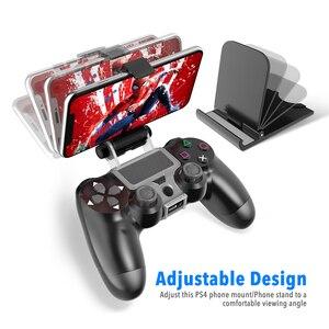 Image 2 - PS4 تحكم قبضة اليد حامل كليب حامل الذكية الهاتف المحمول حامل المشبك جبل قوس غمبد تحكم حامل حامل ل PS4