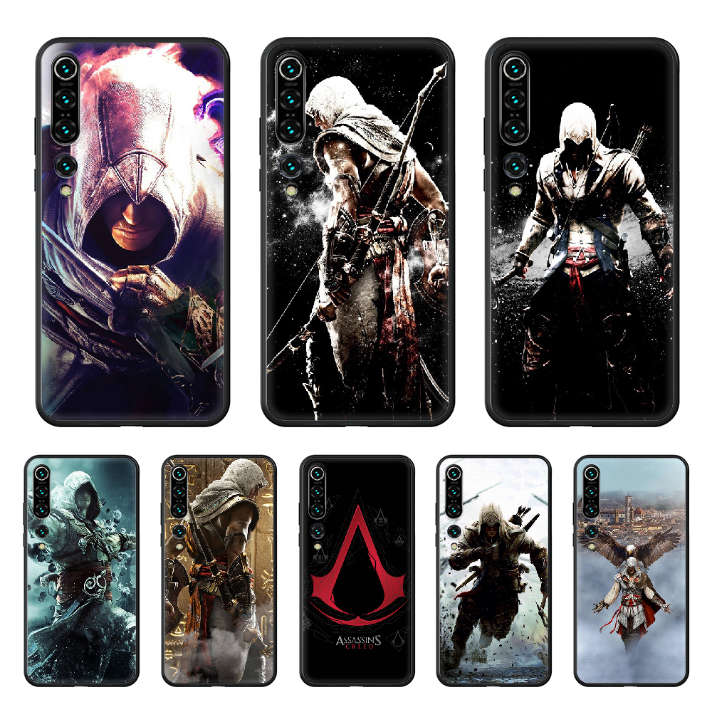2019 Skull Assassins Creed Game Phone case for Xiaomi mi 4 5X 6 X A1 A2 8 9 T 10 F1 Lite pro SE Max Mix Note 2 3 lite black