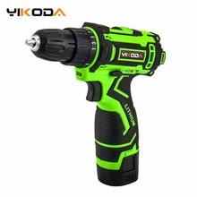 YIKODA 16.8V Lithium Battery CordlessDrill Rechargeable Electric screwdriver Parafusadeira Furadeira DIY Power Tools цены онлайн