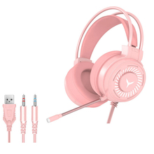 Gaming Headset Surround Sound Stereo Wired Earphones Microphone USB Colorful Light PC Laptop Game Headset 3.5mm Computer headset