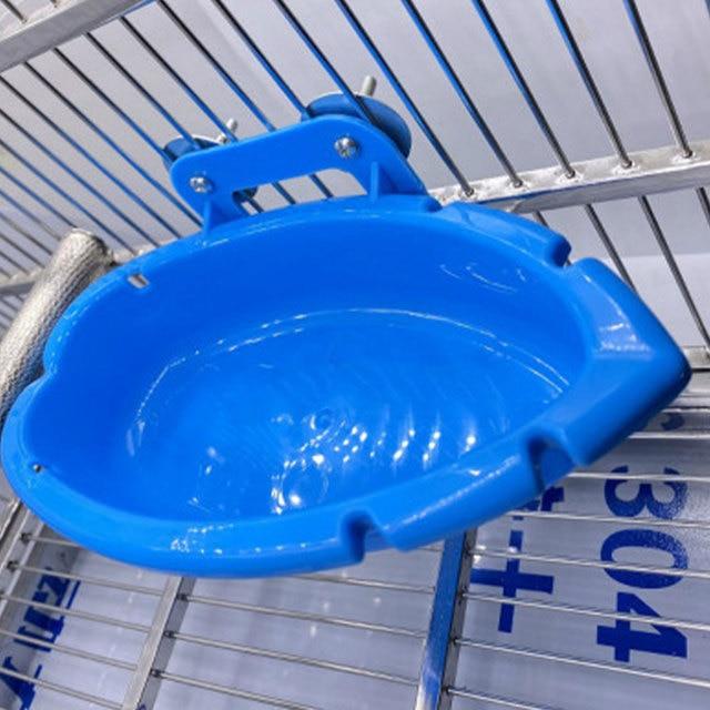 Splash Parakeet Cage Bird Bath Feeder   4