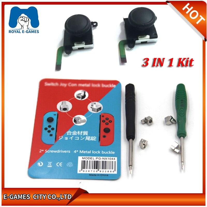1 Juego de herramientas de reparación de hebillas de bloqueo de Metal para Nintend Switch NS Joy Con NX Joy-Con controlador piezas de repuesto Con destornilladores