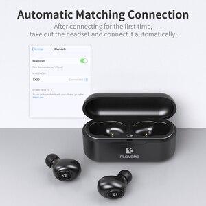 Image 5 - FLOVEME Bluetooth bezprzewodowe słuchawki douszne Mini TWS5.0 słuchawki sportowe słuchawki 3D dźwięk radia douszne mikro etui z funkcją ładowania
