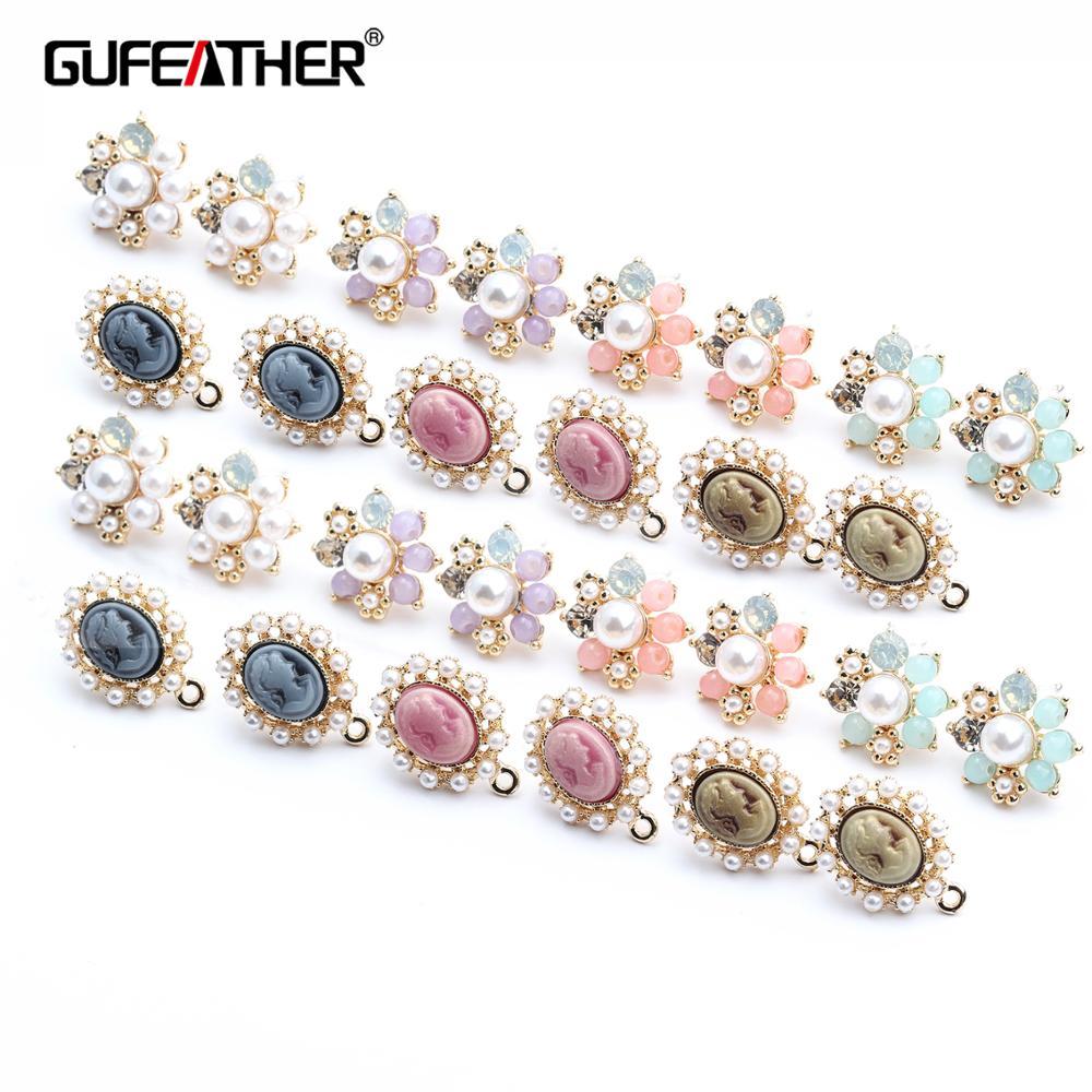 GUFEATHER M425,jewelry Accessories,jewelry Findings,accessory Parts,diy Earrings,handmade,stud Earrings,jewelry Making,10pcs/lot