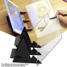 Изображение доска для рисования эскиз отражение Затемнения Кронштейн шаблон для рукоделия плиты калькирование, копирование таблицы проекции Linyi коврик для моделирования