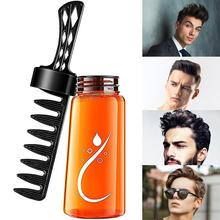 280ml 2 In 1 Men'S Head Styling Gel Cool Hair Modelling Comb Barber Hair Styling Cream Pomade Wax For Well-Cared Styled Hairs