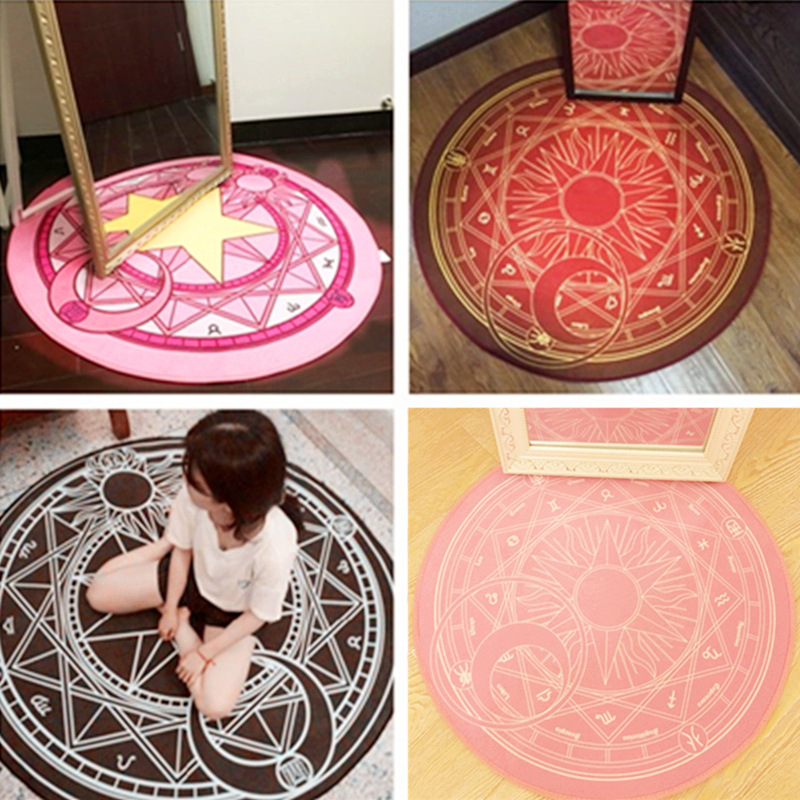 60CM Magic Array Circular Cardcaptor Sakura Clow Plush Carpet Model Sailor Moon Rug Mat Cotton Christmas Gift Toys For Kids/Girl