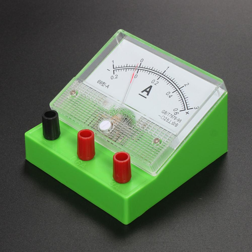 Analog Voltage Meter Voltmeter Class 2.5 Electricity Teaching Experiment Tool Environmental Educational Toys Ammeter Tool ABS
