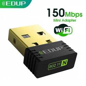 EDUP מיני USB WiFi מתאם 150Mbps 2.4G 802.11a/g/n אלחוטי USB Ethernet WiFi רשת כרטיס wi-fi מקלט עבור מחשב מחשב שולחני