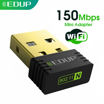 Edupミニusb無線lanアダプタ150mbps 2.4グラム802.11a/g/nのワイヤレスusbイーサネット無線lanネットワークカードwi-fi受信機デスクトップノートpc用
