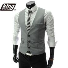 New Arrival Dress Vests For Men Slim Fit Mens Suit Vest Male Waistcoat Gilet Homme Casual Sleeveless Formal Business Jacket