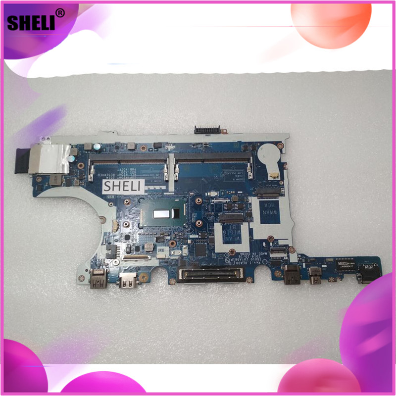 SHELI CN-0Y15C1 0Y15C1 Y15C1 For Dell E7450 laptop Motherboard with <font><b>I7</b></font>-<font><b>5600U</b></font> LA-A961P mainboard 100% tested good image