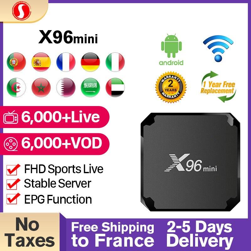 X96 MINI IPTV France Box Android 7.1 S905W France Arabic IPTV Sansat Subscription 1 Year Spain Portugal Italia IPTV FHD pk SUBTV