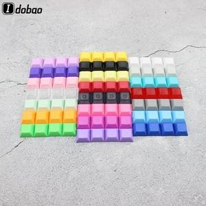 PBT Blank 1U Keys DSA Keycaps Mixded Color Cherry MX Custom Keycap Set For Gaming Tastatur Mechanical Keybord Mini Kit Gamer(China)