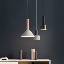Nordic style LED chandelier modern dining room bar decorative lamps concise art color chandelier bedroom kitchen lighting lamps art and design shaped concise modern led lamps living room pendant lamp clothing store bar creative dining room led chandelier