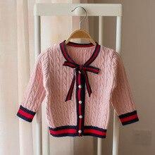 Хлопковая трикотажная одежда для маленьких девочек; Новинка года; стильная осенняя одежда; одежда принцессы; Детский кардиган; свитер