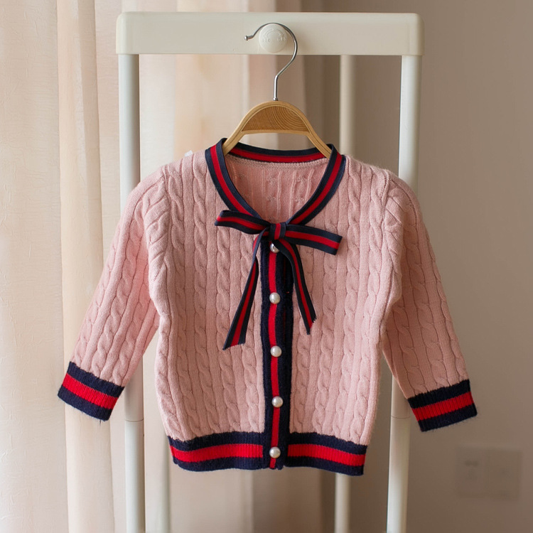 Female Baby Cotton Knitwear 2019 New Style Autumn Clothing Princess Clothes Infant Cardigan Sweater