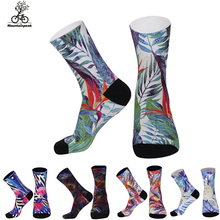 Cycling socks Anti Slip Breathable MTB Road Bike Socks outdoor sports Running Football Basketball stocking for man women 38-43cm