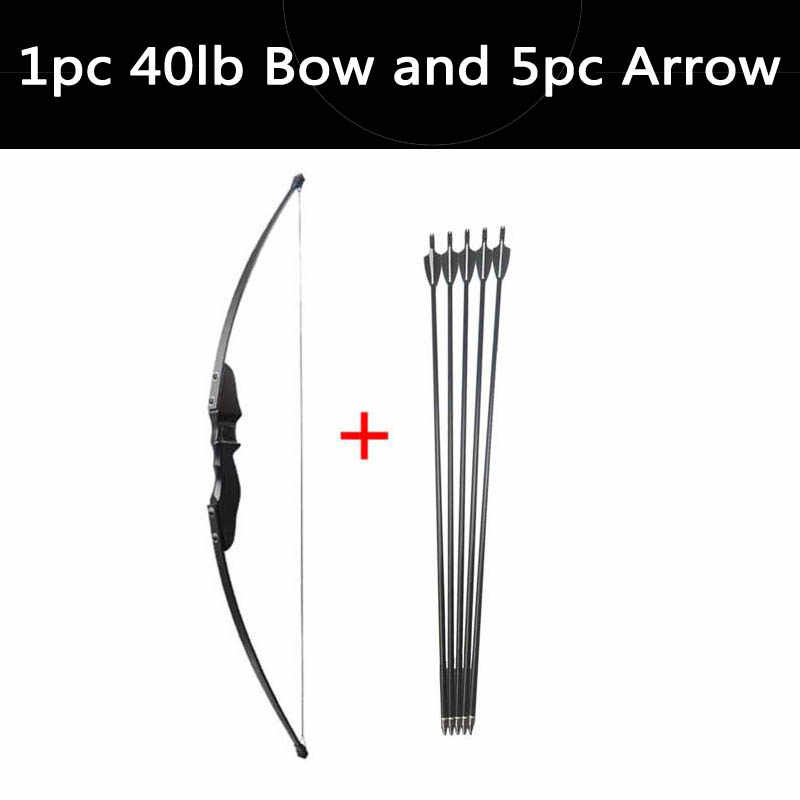 Busur dan Anak Panah Recurve Bow Mengambil Longbow £ 30/40Lbs dengan Fiberglass Panah Panah dan Tabung untuk Berburu Memanah aksesori