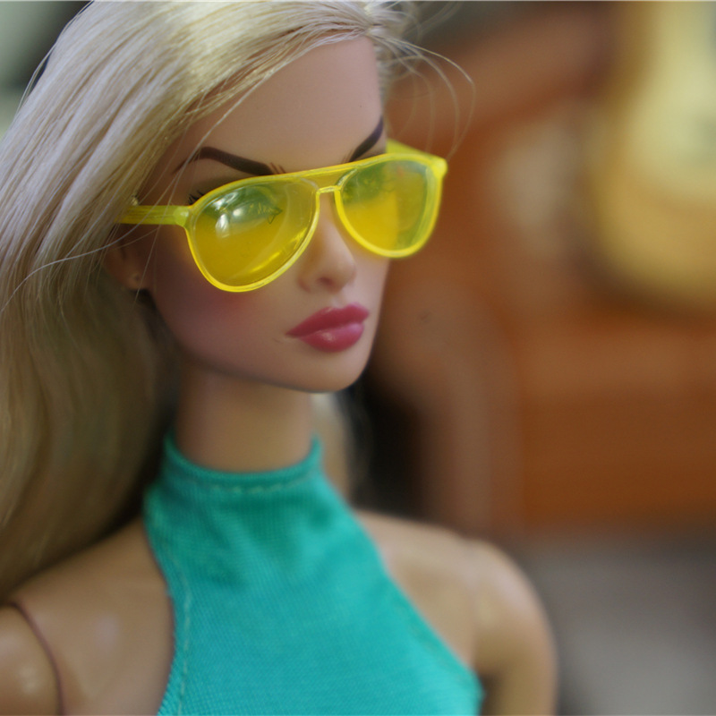 Original Necklace For Barbie Sunglasses 1/6 Bjd Doll Belt Princess Fashion Dressing Up Accessories Dollhouse GiftToys For Girls