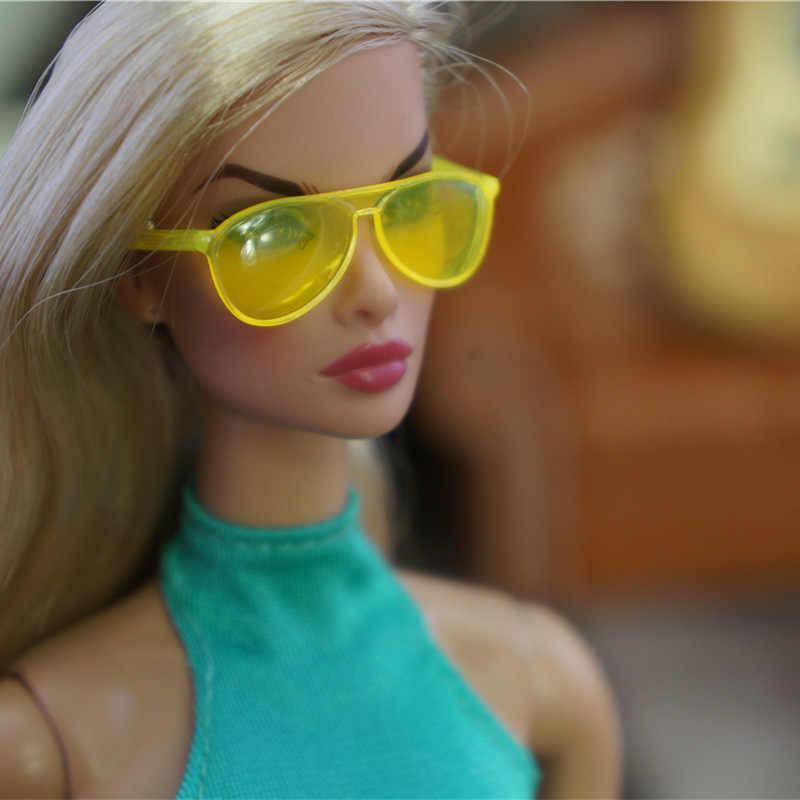 Orijinal kolye Barbie güneş gözlüğü 1/6 bjd bebek kemer prenses moda giyinme aksesuarları dollhouse GiftToys kızlar için