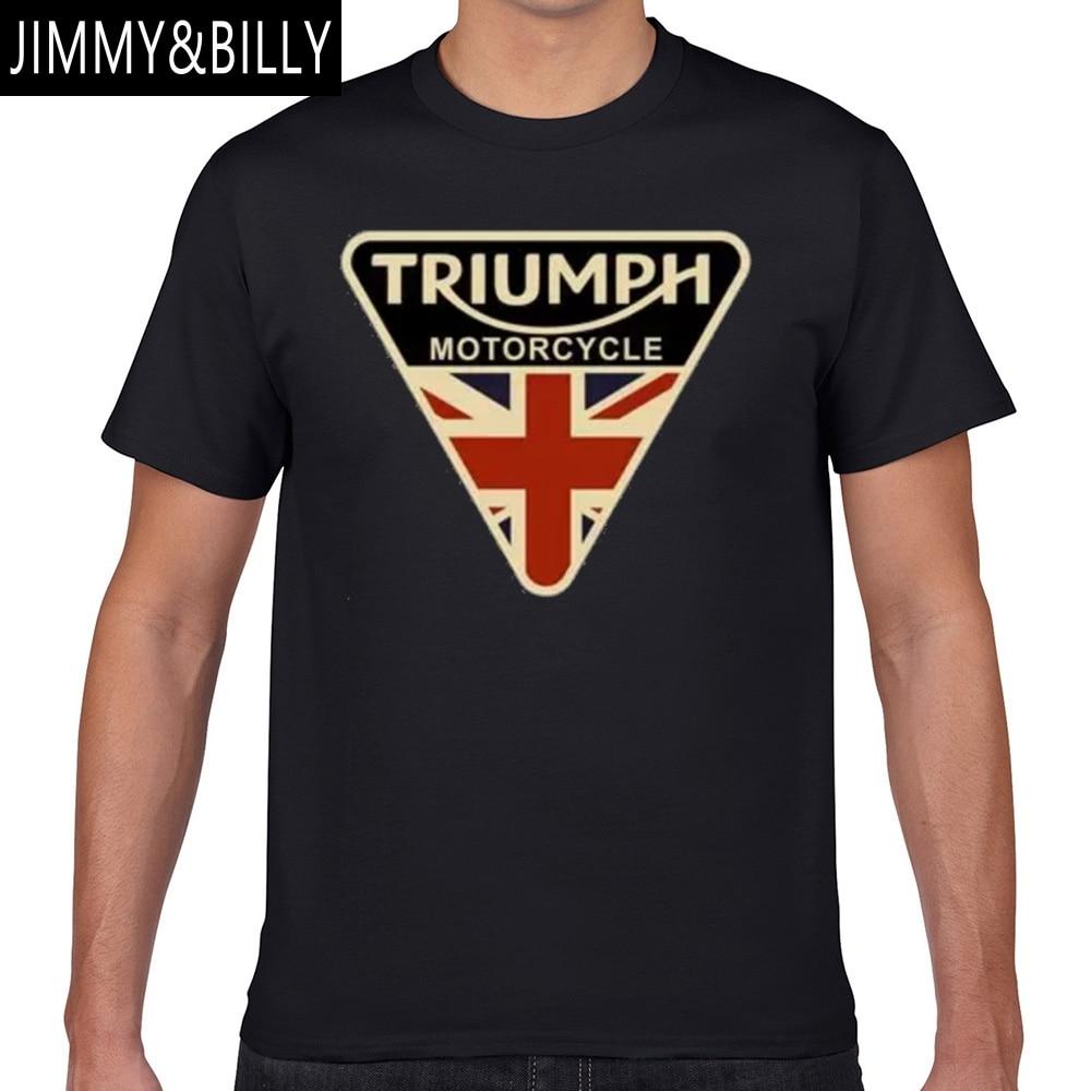 Tops T Shirt Men triumph motorcycle Sexy Harajuku Geek Print Male Tshirt XXXL