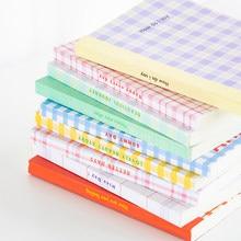 Yoofun 188 Page Korean Trellis Diary NoteBook Planner Blank Grid Horizontal Line Inner Page Notepad Daily Plan Yearly Agenda