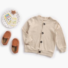 Girl'S Coat 2018 Autumn Solid Color Boys' Sweater Cardigan Infant Children Wear Baby