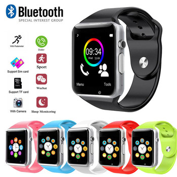 Sport Smart Watch Women Bluetooth Sync Notifier Support SIM TF Connectivity for Apple Android Phone Watch Camera Smartwatch A1