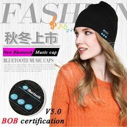 Wysokiej jakości zestaw słuchawkowy Bluetooth Smart Cap słuchawka miękka ciepła czapka typu beanie głośnik muzyczna czapka słuchawki z mikrofonem