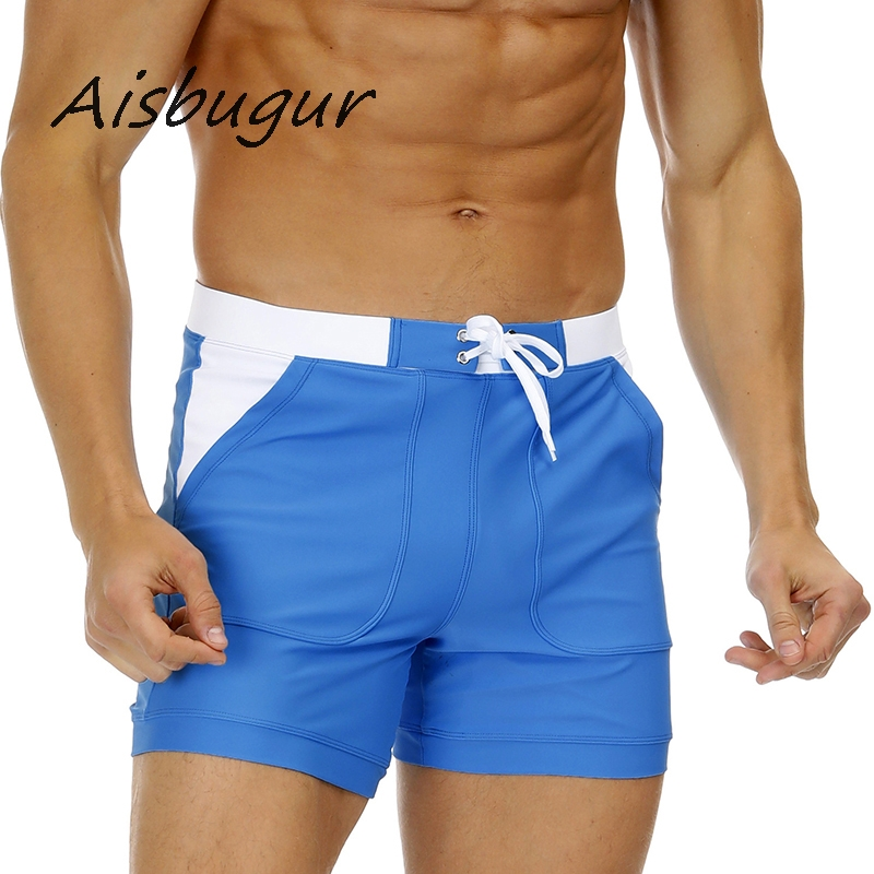 8 Colour Man Swimsuit Sexy Angle Swim Trunks Adult Sandy Beach Wear Shorts Solid Quick Dry Swimming Trunks Bathing Suit S-2XL