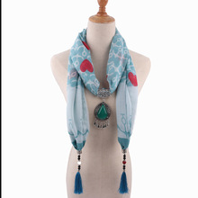 Metal fringed drop pendant womens shawl national style scarf Mongolian garment accessories 1841